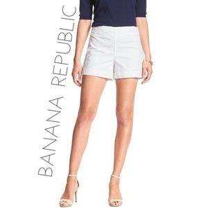 NEW Banana Republic White Eyelet Shorts Size 0